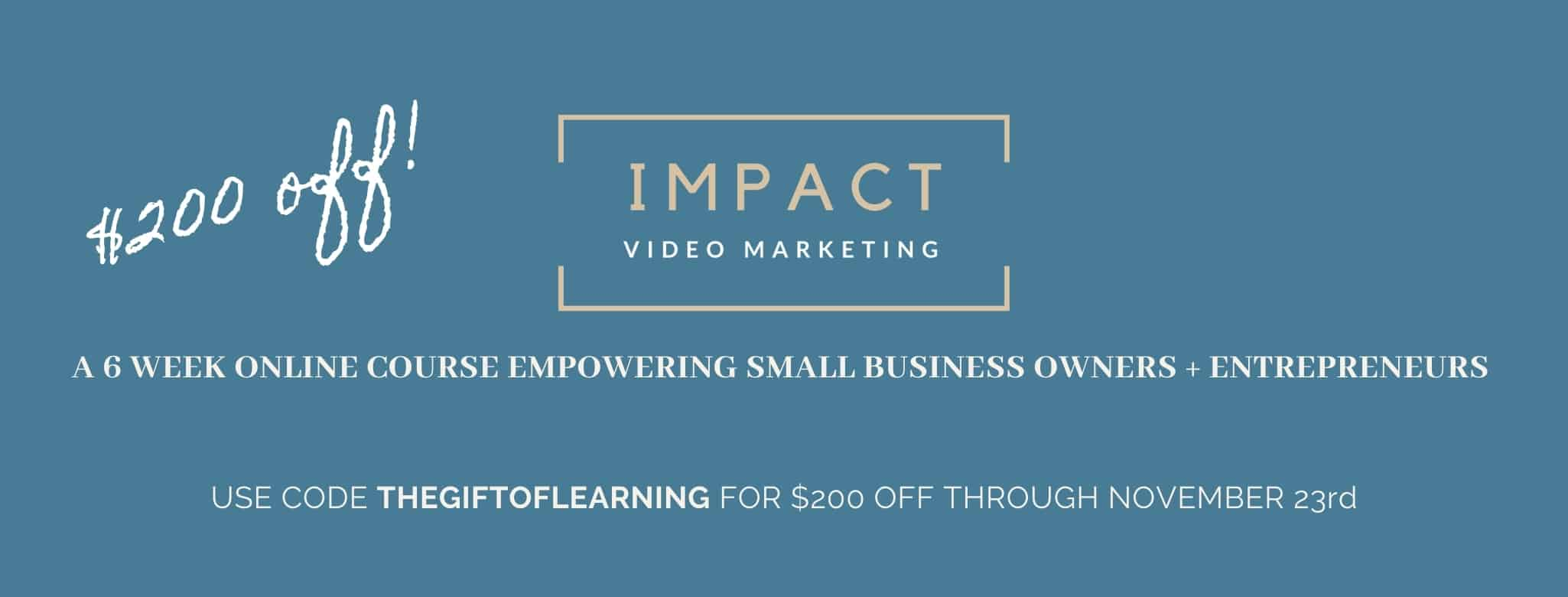 Online Video marketing course for small business owners and entrepreneurs